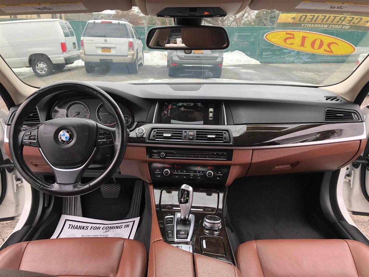 2015 Bmw 528I xdrive 开了46000 miles , 无事故记录, 高配, 而且配色很好看 白色配棕色皮